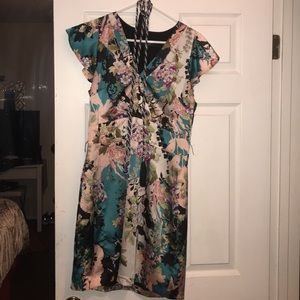 Multi color dress with tassels for waist